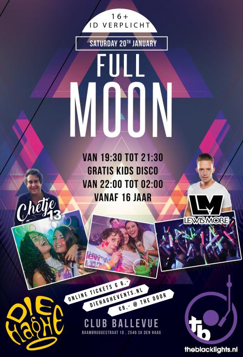20 januari: Full Moon disco voor de jeugd