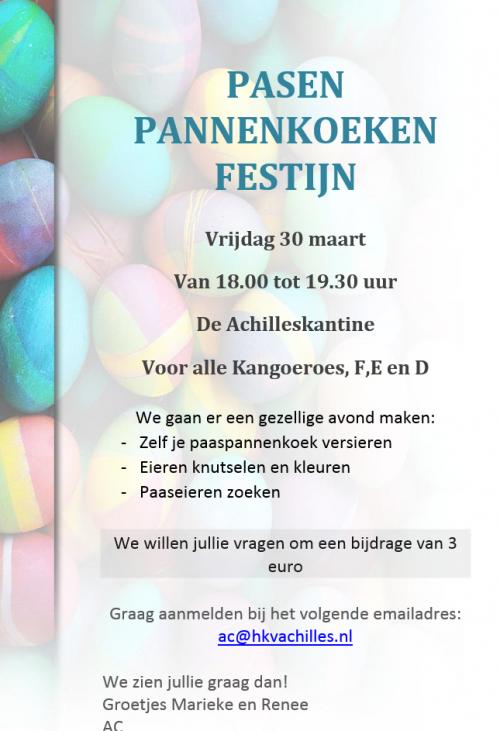 AC: Pasen Pannenkoekenfestijn op 30 maart