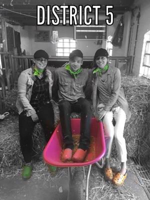 District 5, groen, Renske, Frank Pot en Joy.jpg
