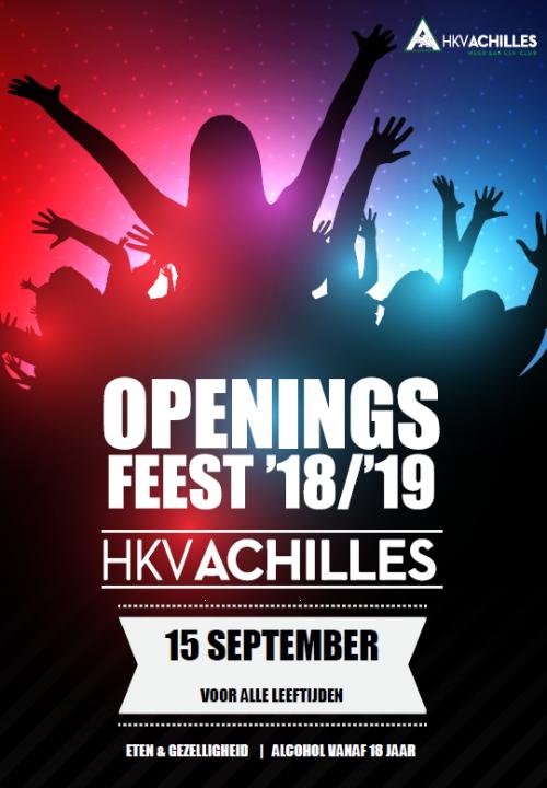 15 september: Openingsfeest