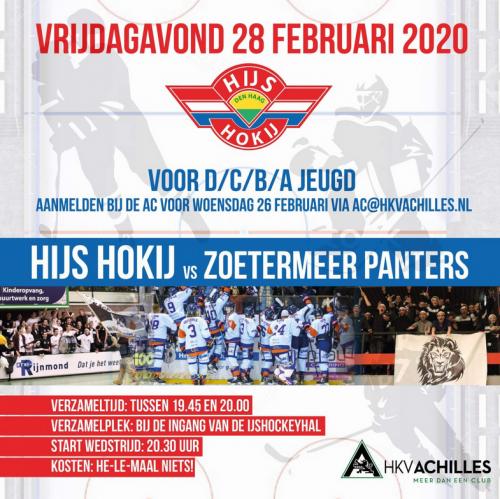 28 februari: Bezoek HIJS Hokij vs Zoetermeer Panters