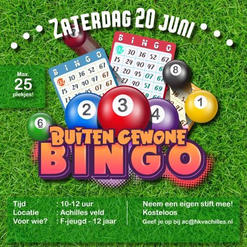 20 juni: BUITENgewone Bingo