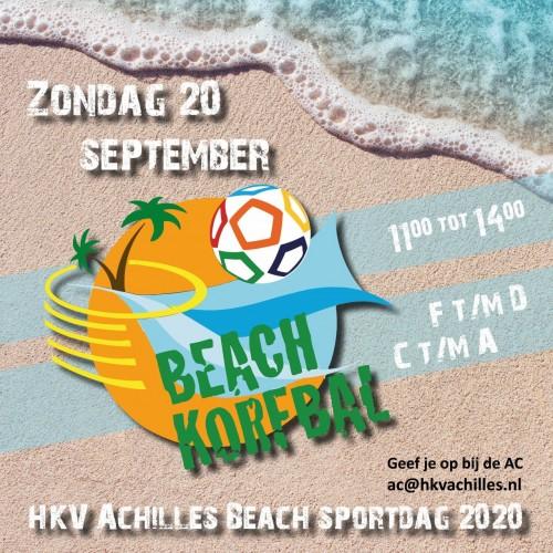 20 september: AC's Beach-korfbal-volley-rugby-stranddag