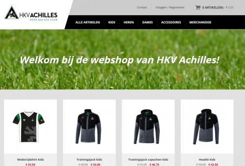 BREAKING NEWS: de Achilles webshop is ONLINE!