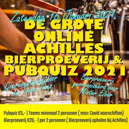 16 januari: Pubquiz @ (Eiber) Bierproeverij!