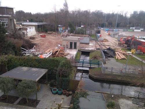 Nieuwbouw update: de kantine is nu echt weg..