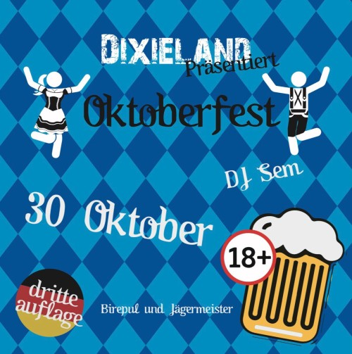 30 oktober: Dixieland präsentiert: Oktoberfest!